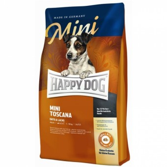 2x 4kg Happy Dog Mini Toscana + 2kg gratis
