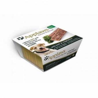 Applaws Dog Schale Paté mit Rind & Gemüse 7x 150g