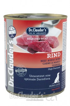 Dr. Clauders Dog Dose Selected Meat Rind 6x 800g