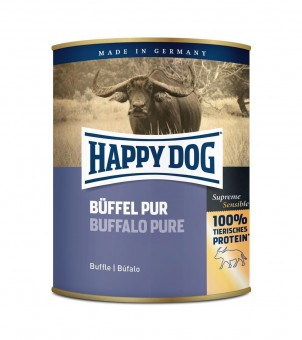 Happy Dog Dose Büffel Pur 6x 800g