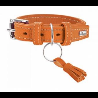 Hunter Halsband Cannes | Leder | orange 65 - 49-57 cm - 35 mm