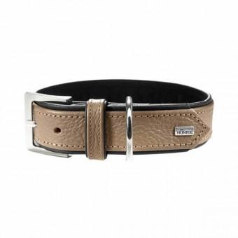Hunter Halsband Capri | Leder | stone-schwarz 55 - 42-48 cm - 34 mm