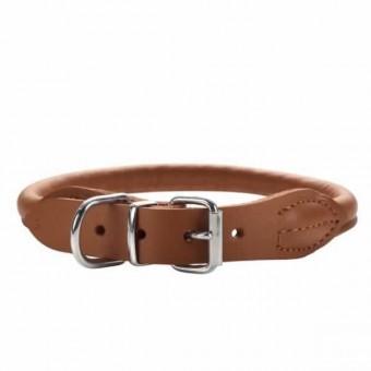 Hunter Halsband Round & Soft | Elk-Leder | cognac 45 - 38-42 cm - 8 mm