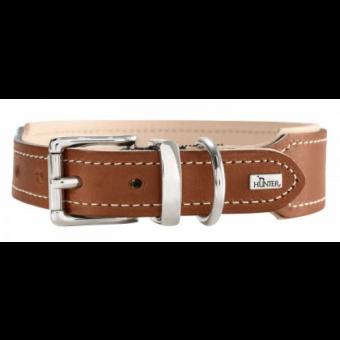 Hunter Halsband Virginia | Leder | rost-beige 55 - 44-50 cm - 38 mm