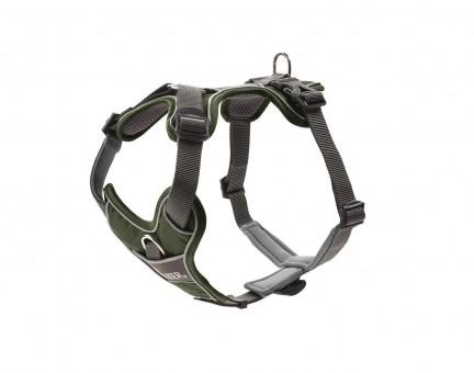 Hunter Hunde-Geschirr Divo grün-grau | M