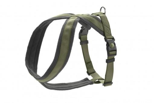 Hunter Hunde-Geschirr London Comfort oliv-grün | L 1