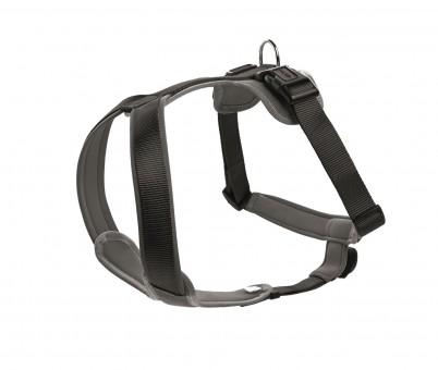 Hunter Hunde-Geschirr Neopren schwarz-grau   S