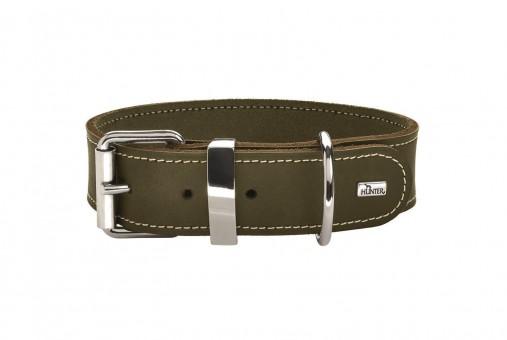 Hunter Hunde-Halsband Aalborg Special oliv-grün   XS-S