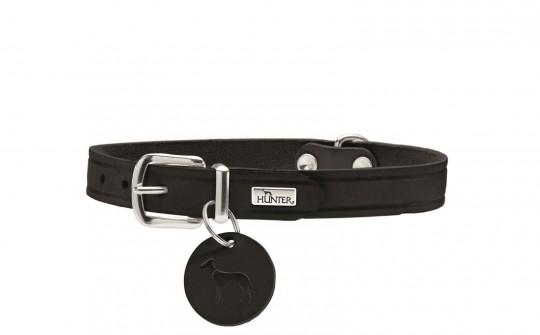 Hunter Hunde-Halsband Aalborg schwarz | M