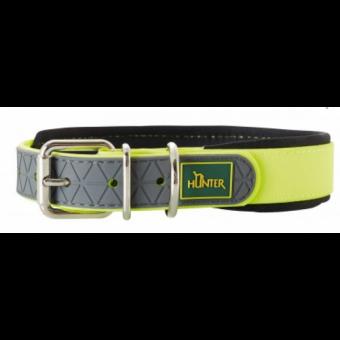 Hunter Hunde-Halsband Convenience Comfort neon-gelb | S-M