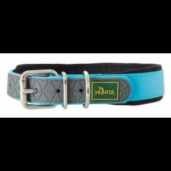Hunter Hunde-Halsband Convenience Comfort türkis | M-L