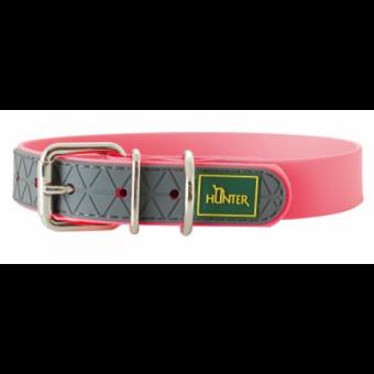 Hunter Hunde-Halsband Convenience neon-pink | L