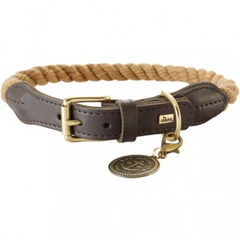 Hunter Hunde-Halsband List beige   S-M