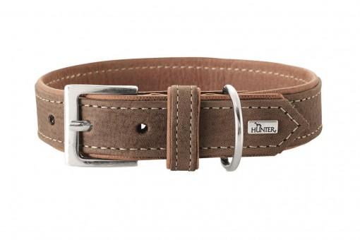 Hunter Hunde-Halsband Porto tabak-cognac   S