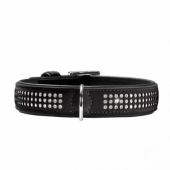 Hunter Hunde-Halsband Softie Triluxe schwarz   M-L