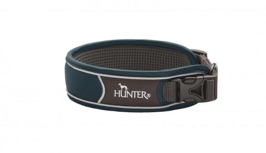 Hunter Hunde-Halsung Divo dunkelblau-grau | L