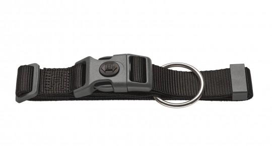 Hunter Hunde-Halsung London mit Zugentlastung | schwarz | L-XL