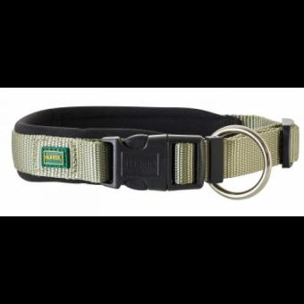Hunter Hunde-Halsung Neopren Vario Plus oliv-schwarz | XS-S