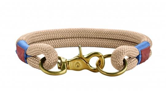 Hunter Hunde-Halsung Sansibar Rantum beige | L-XL
