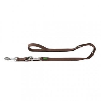 Hunter Hunde-Leine verstellbar | Nylon braun | 20-200