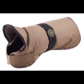 Hunter Hundemantel Denali | wasserabweisend | reflektierend | taupe 40 cm