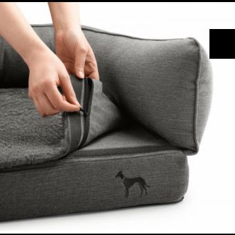 Hunter Orthopädisches Hundesofa Livingston | anthrazit 80 x 60 cm