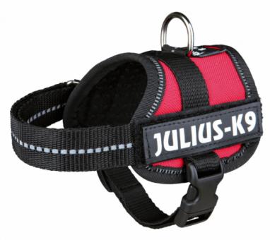 Julius-K9 Powergeschirr Baby | rot 1/XS: 30-40 cm/18 mm