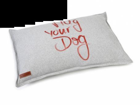 Karlie Beeztees Loungekissen Hug Your Dog  100x70 cm | grau