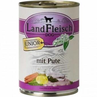 LandFleisch Dog Junior Pute 24 x 400g