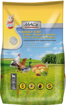 MAC´s Cat Adult Ente, Pute & Huhn 2x 7 kg | Vorteilspack