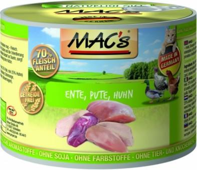 MAC's Cat Ente, Pute & Huhn 12x 200g
