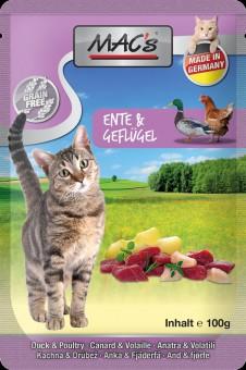 MAC's Cat Pouch Ente & Apfel 12x 100g