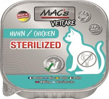 MAC's Cat VetCare Sterilized Huhn