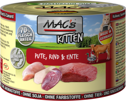 MAC's Kitten Pute, Rind & Ente
