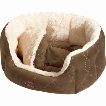 Nobby Komfort Bett CENO | beige-braun 45 x 40 x 19 cm