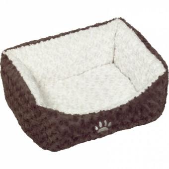 Nobby Komfort Bett NEIKU   braun-weiß 60 x 48 x 19 cm