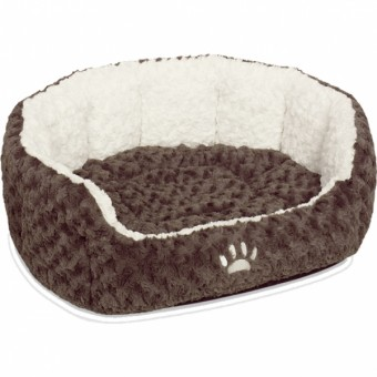 Nobby Komfort Bett NEIKU   braun-weiß 45 x 40 x 19 cm