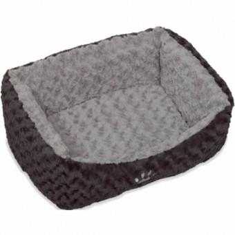 Nobby Komfort Bett SEOLI | dunkelgrau-hellgrau 60 x 48 x 19 cm