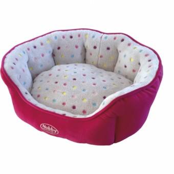 Nobby Komfort Bett SPOT | pink-hellgrau 45 x 40 x 19 cm