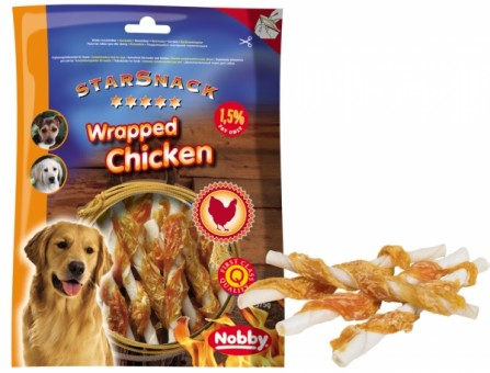 Nobby STARSNACK Barbecue WRAPPED CHICKEN 6 x 375 g