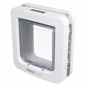 SureFlap Freilauftür mit Mikrochiperkennung 26,2x28,1 cm | weiß