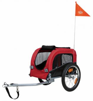 Trixie Fahrrad-Anhänger | schwarz-rot S: 53 × 60 × 60 (117) cm