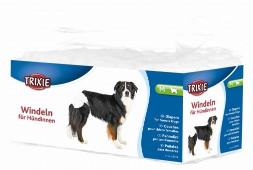 Trixie Hundewindel für Hündinnen M (Taille 32-48 cm) | 12 Stück