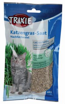Trixie Katzengras Nachfüllbeutel Verdauungshilfe 100 g