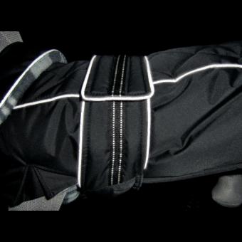 Trixie Mantel Rouen | schwarz M: 48 cm