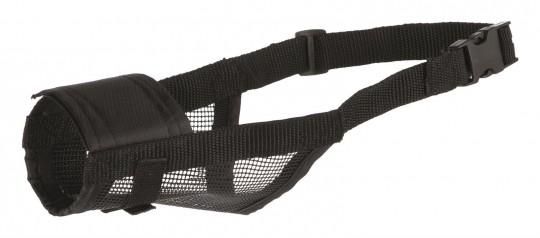 Trixie Maulkorb mit Netzeinsatz | Polyester | schwarz S: 14 - 18 cm