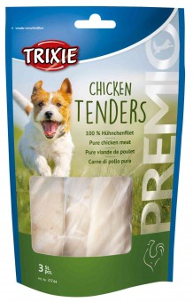 Trixie PREMIO Chicken Tenders | 100% Hühnerfilet 20x 75 g (3 Stück)