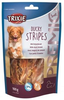 Trixie PREMIO Ducky Stripes | 90% Fleischgehalt 10x 100 g | Vorteilspack