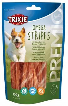 Trixie PREMIO Omega Stripes | Hundesnack mit Huhn 10x 100 g | Vorteilspack