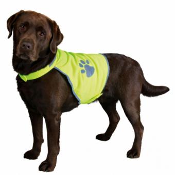 Trixie Sicherheitsweste für Hunde | neongelb XS: 34–40 cm